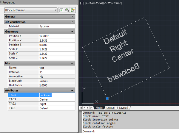 AutoCAD  NET: EntityJig – Jig Attributes of Block (INSERT