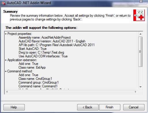 AcadNetAddinWizard_SummaryPage