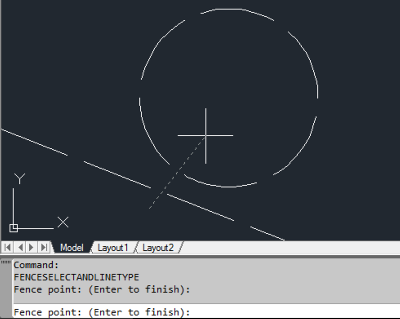 AutoCAD  NET: Fence Selection & Line Type