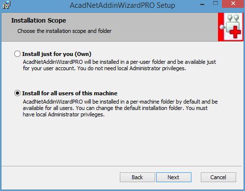 Install AutoCAD  NET Addin Wizard 2015